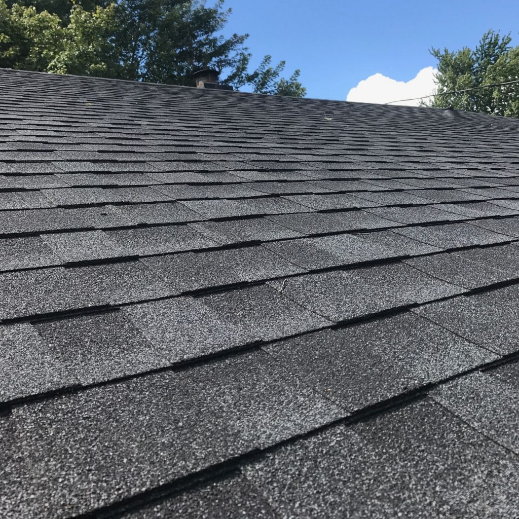 shingle roofing system in grey